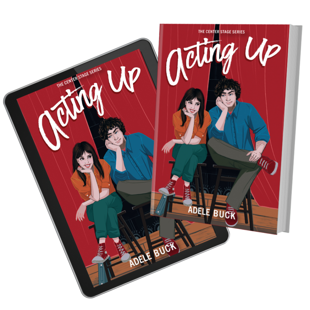 Acting up cover on ipad and paperback